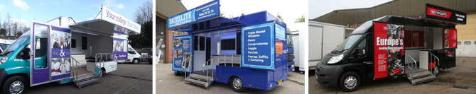Masters type approved mobile exhibition vans 2013